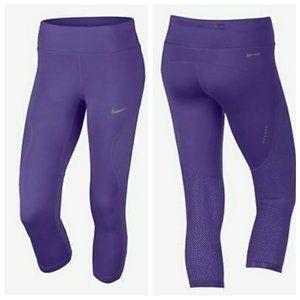 Nike Womens Dri-FIT Crop Running Tights 855144 540